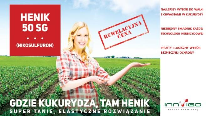 herbicyd henik 50 sg na chwasty w kukurydzy