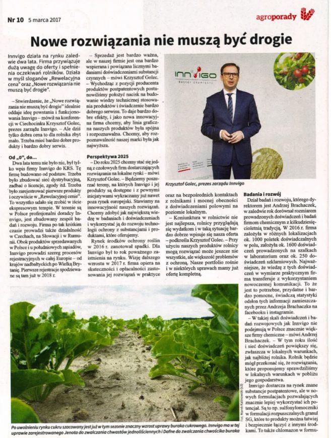 innvigo o środkach ochrony roślin artykuł