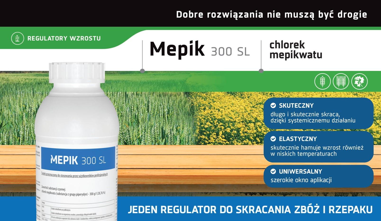 Regulator wzrostu Mepik chlorek mepikwatu