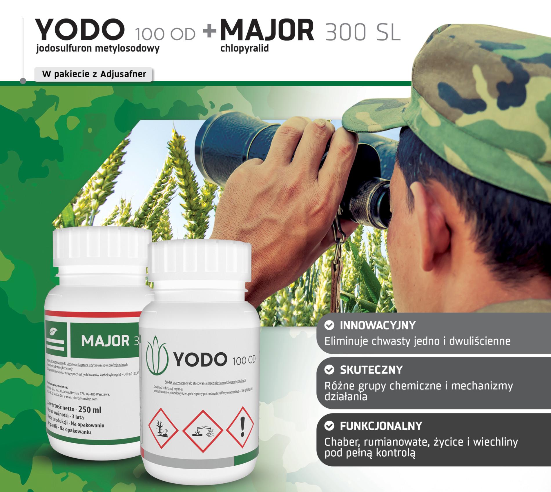 Herbicydy Yodo Major na chwasty zboża ozime