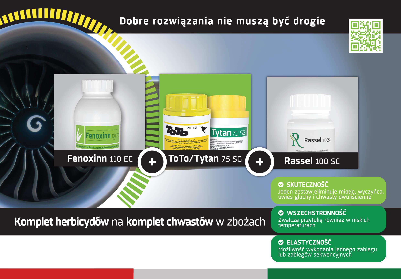tifensulfuron metylu komplet herbicydów