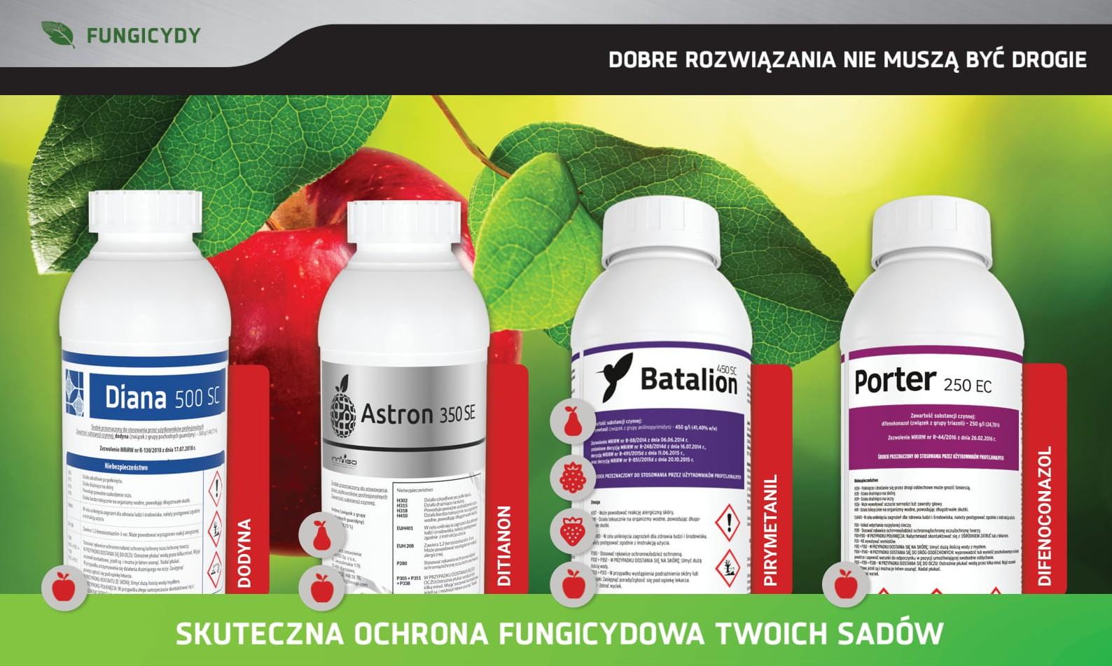 Ochrona fungicydowa sadów